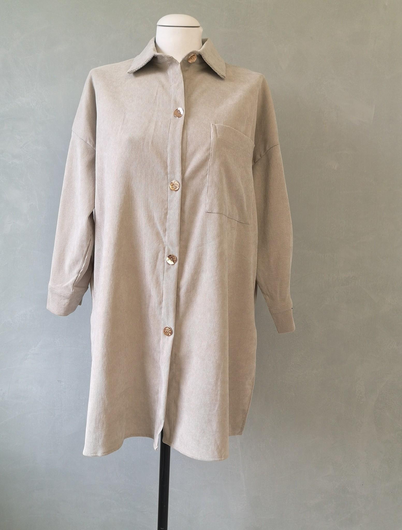 Curduroy shirt antelao off-white