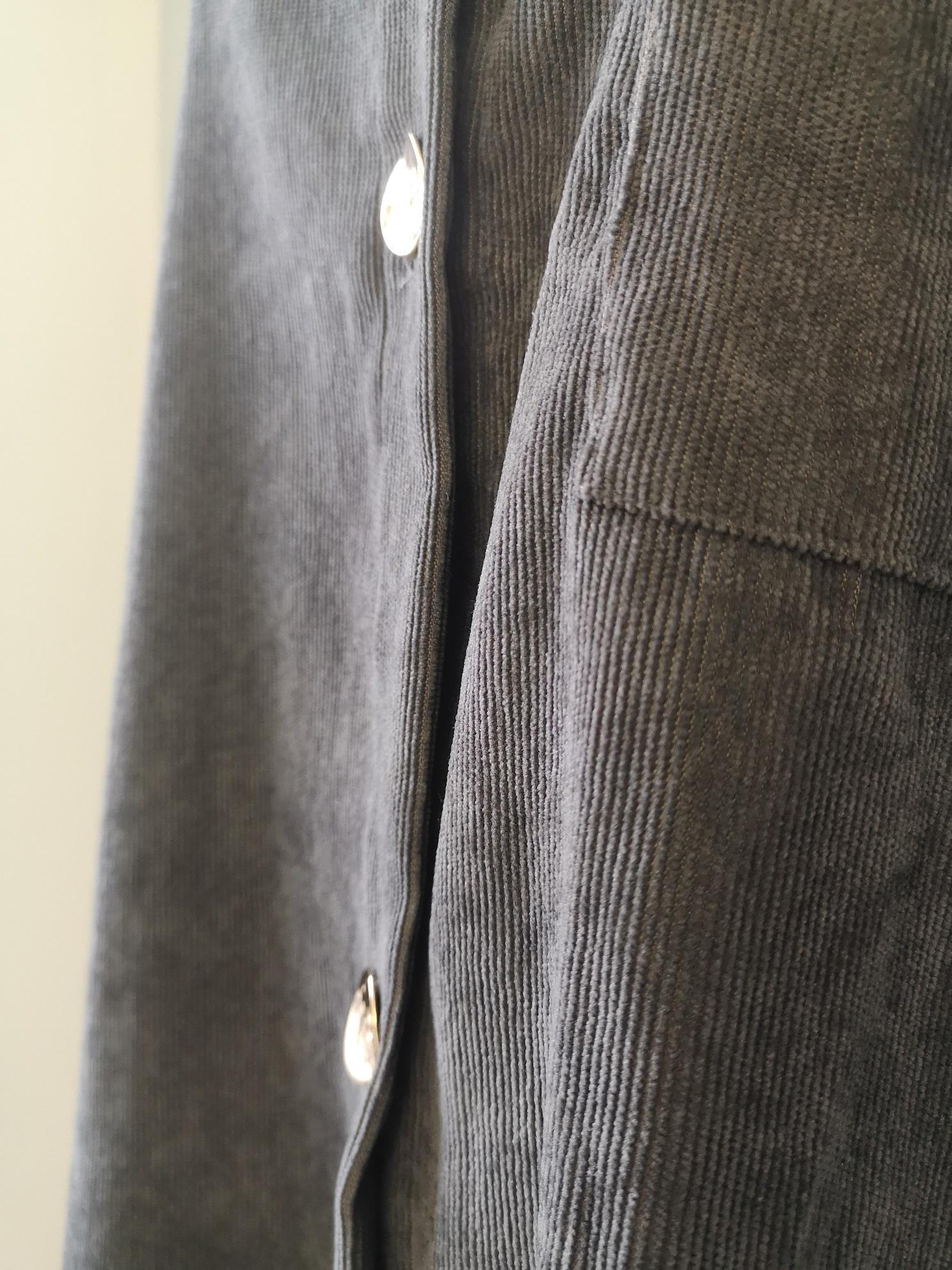Curduroy blouse antelao grijs