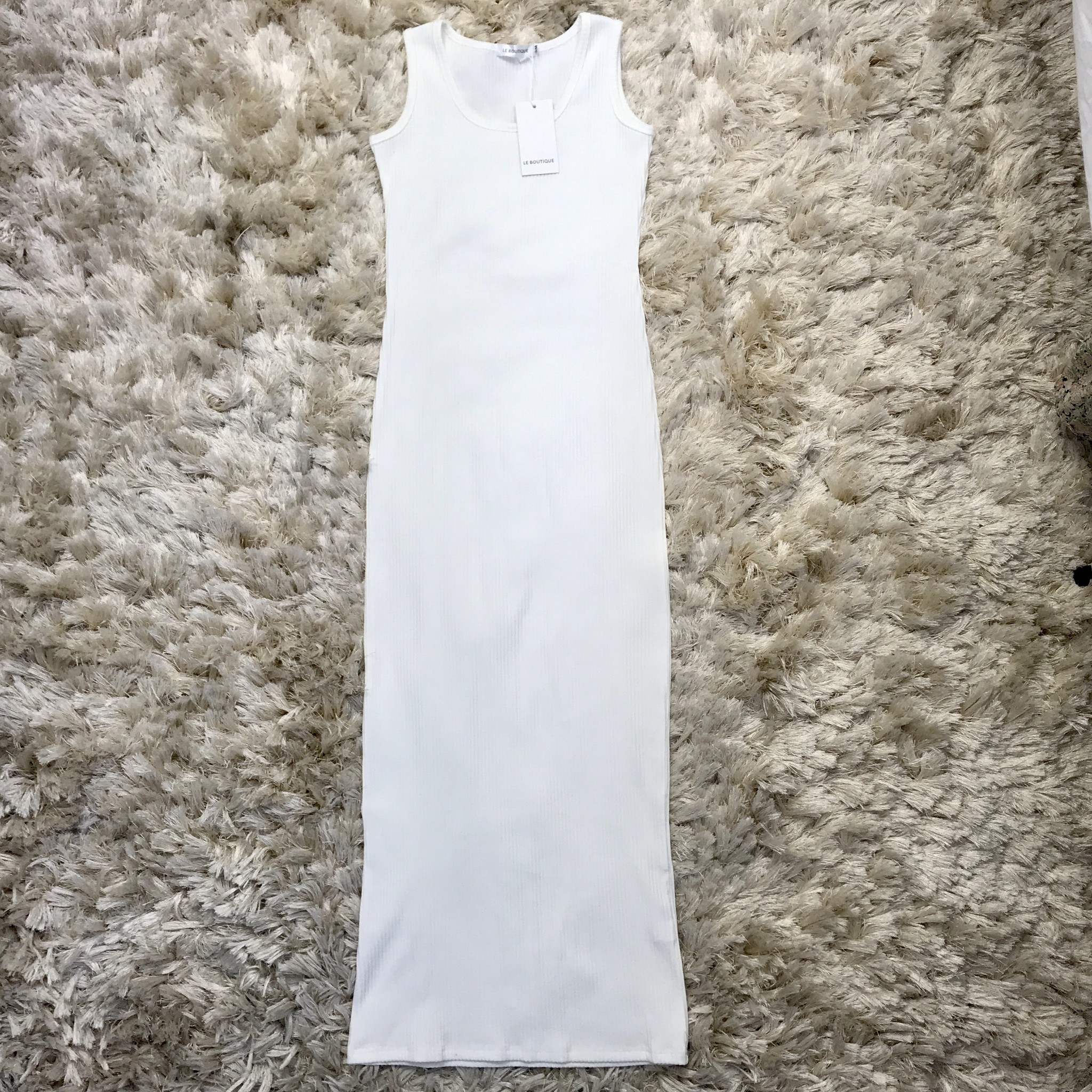 Jersey dress slim-fit  white