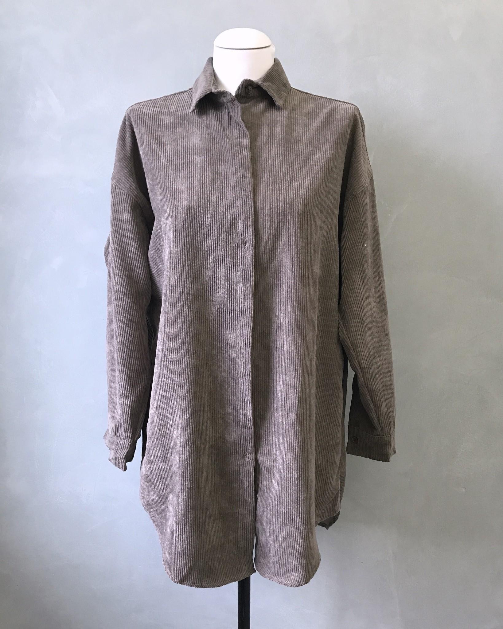 Ribbel blouse rapallo grijs