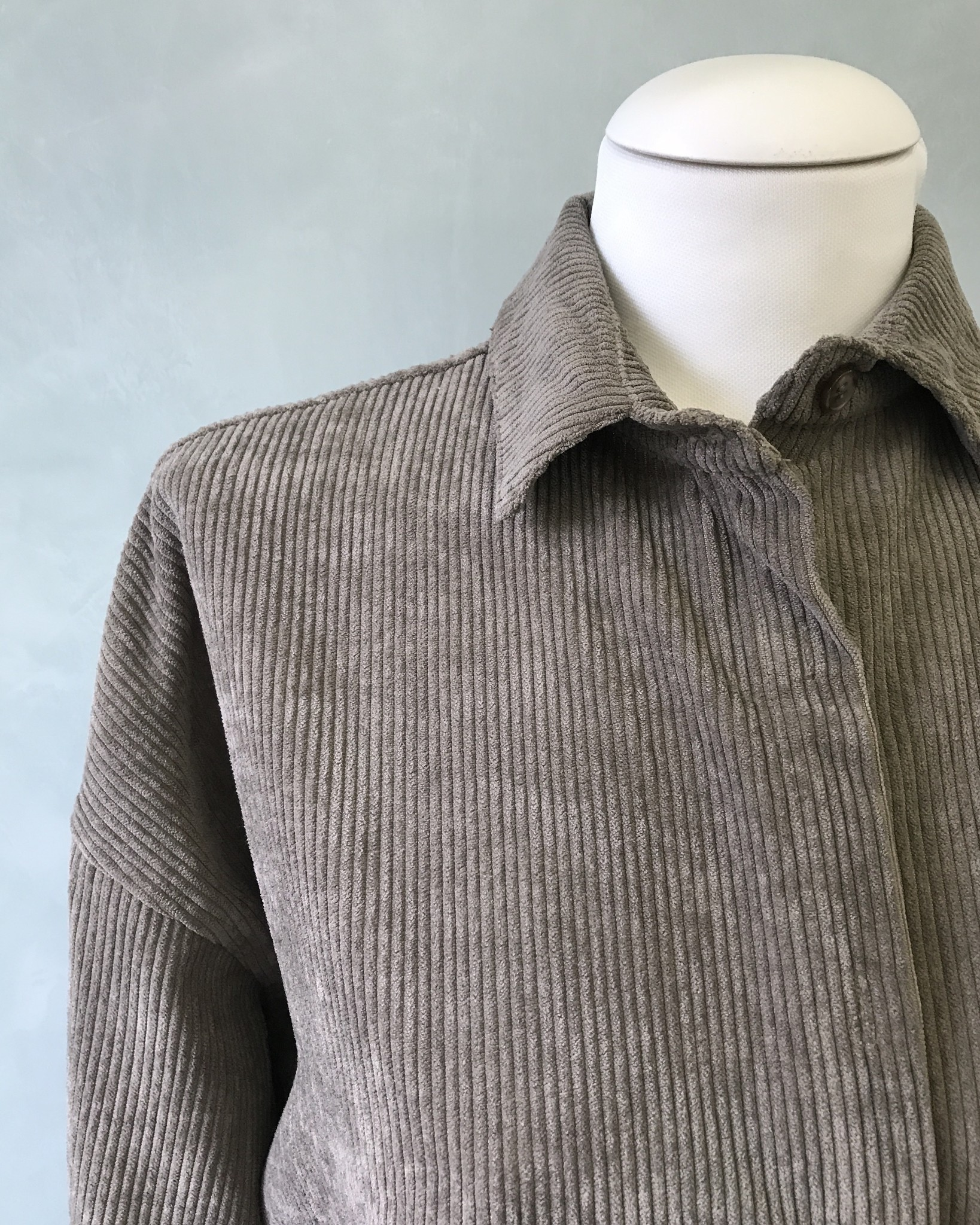 Curduroy shirt rapallo grijs