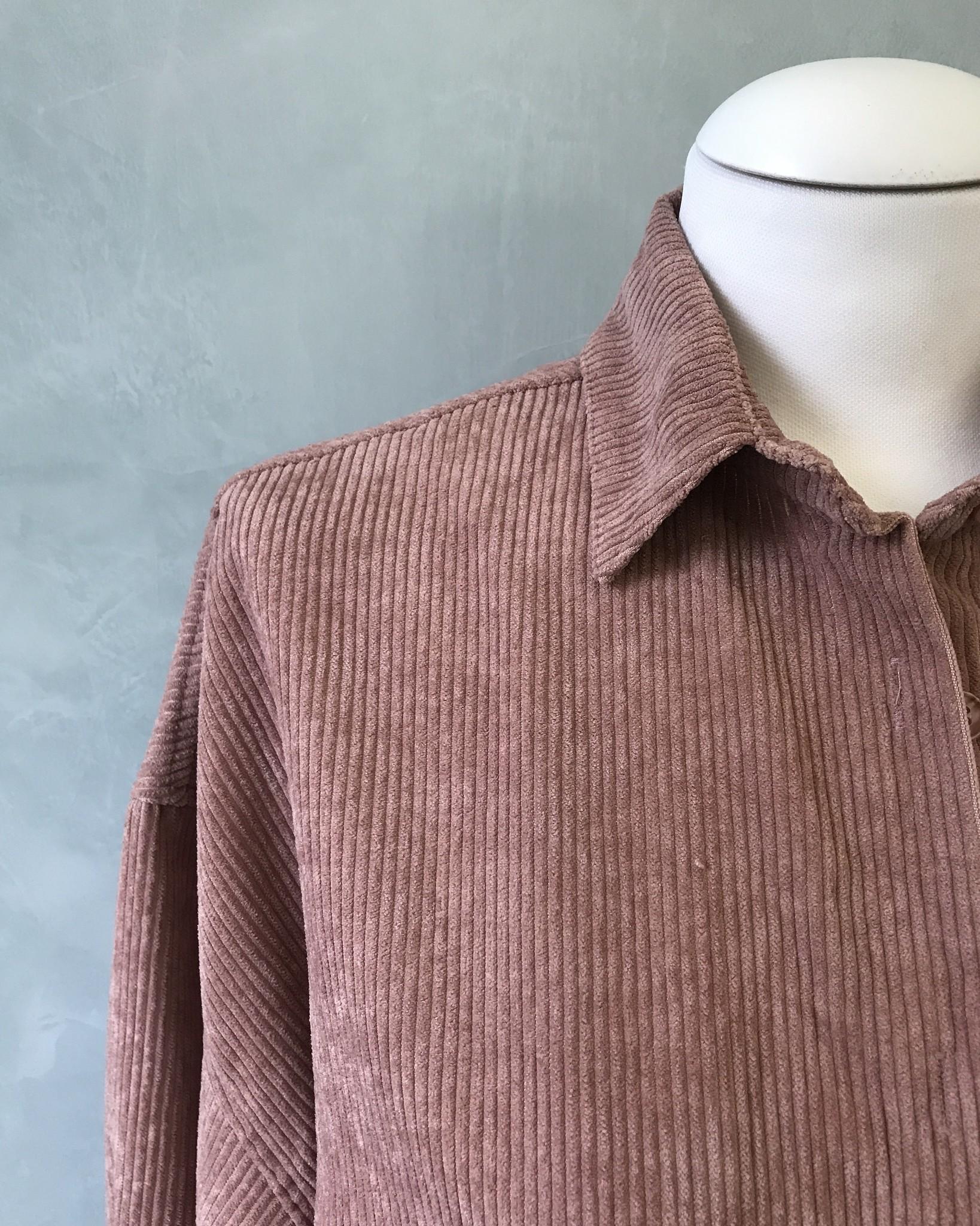 Ribbel blouse rapallo roze