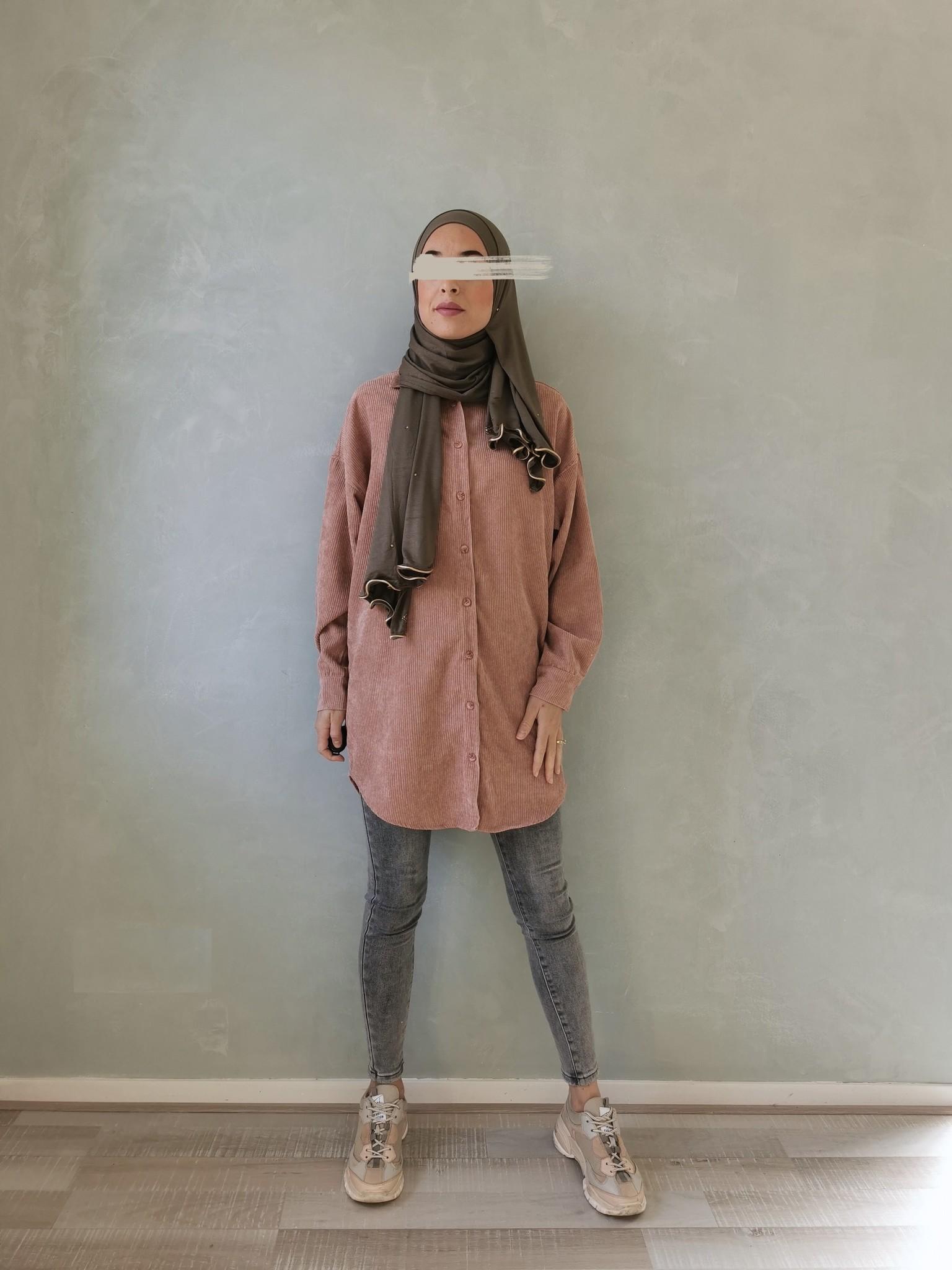 Curduroy shirt rapallo roze