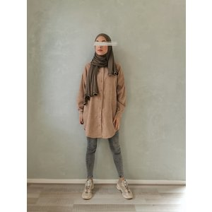 Ribbel blouse rapallo beige