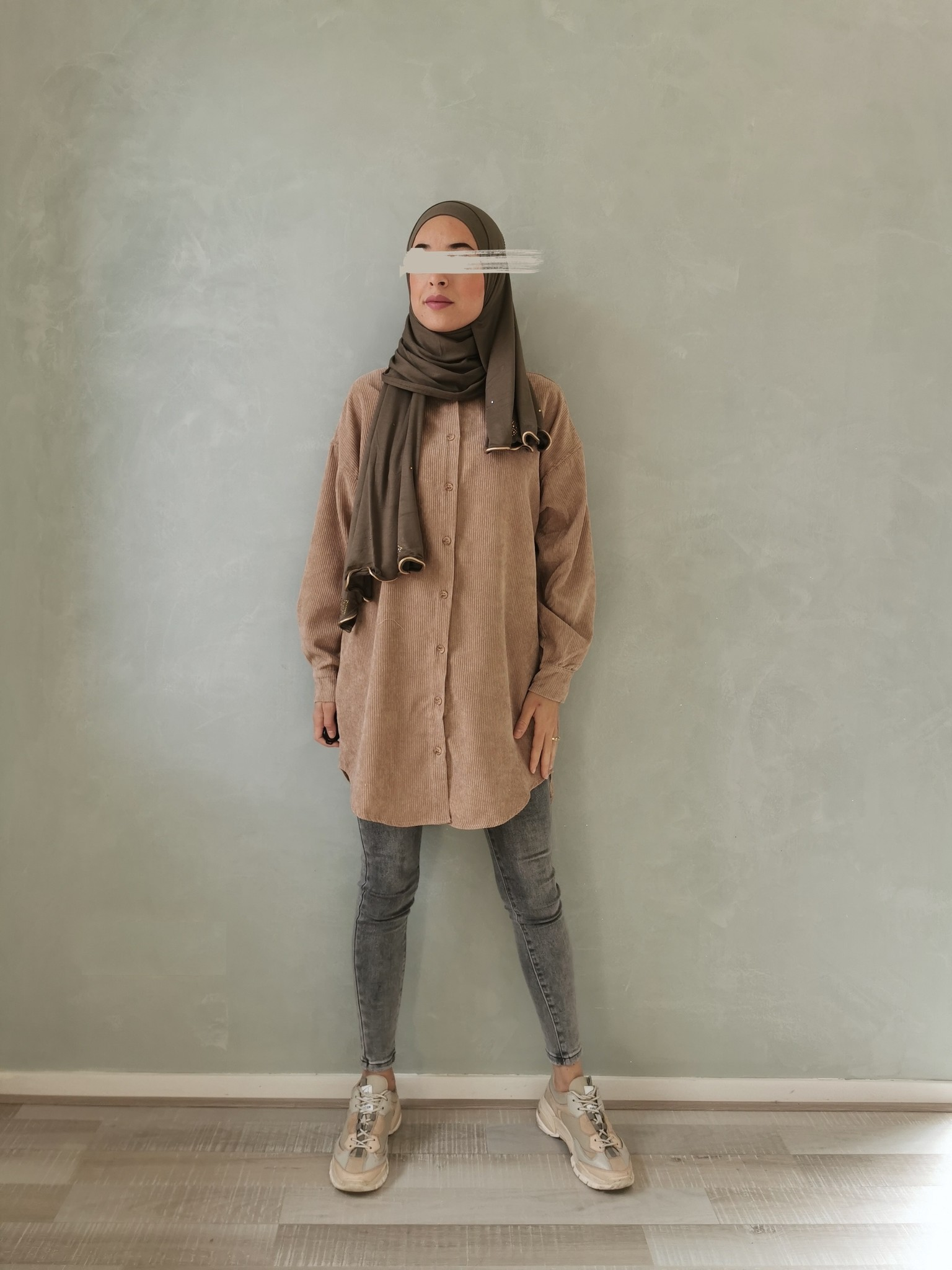 Ribbel blouse rapallo beige