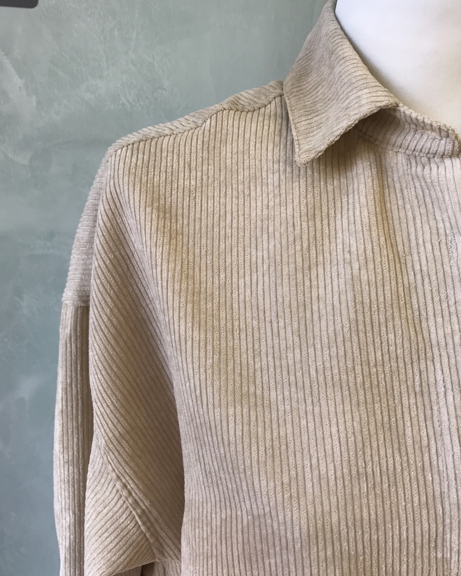 Ribbel blouse rapallo offwhite