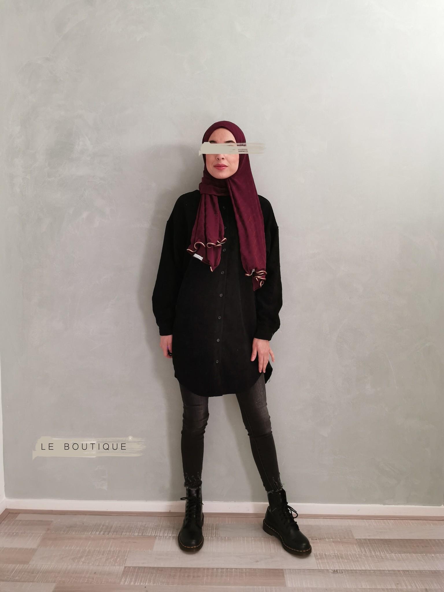 Ribbel blouse rapallo zwart