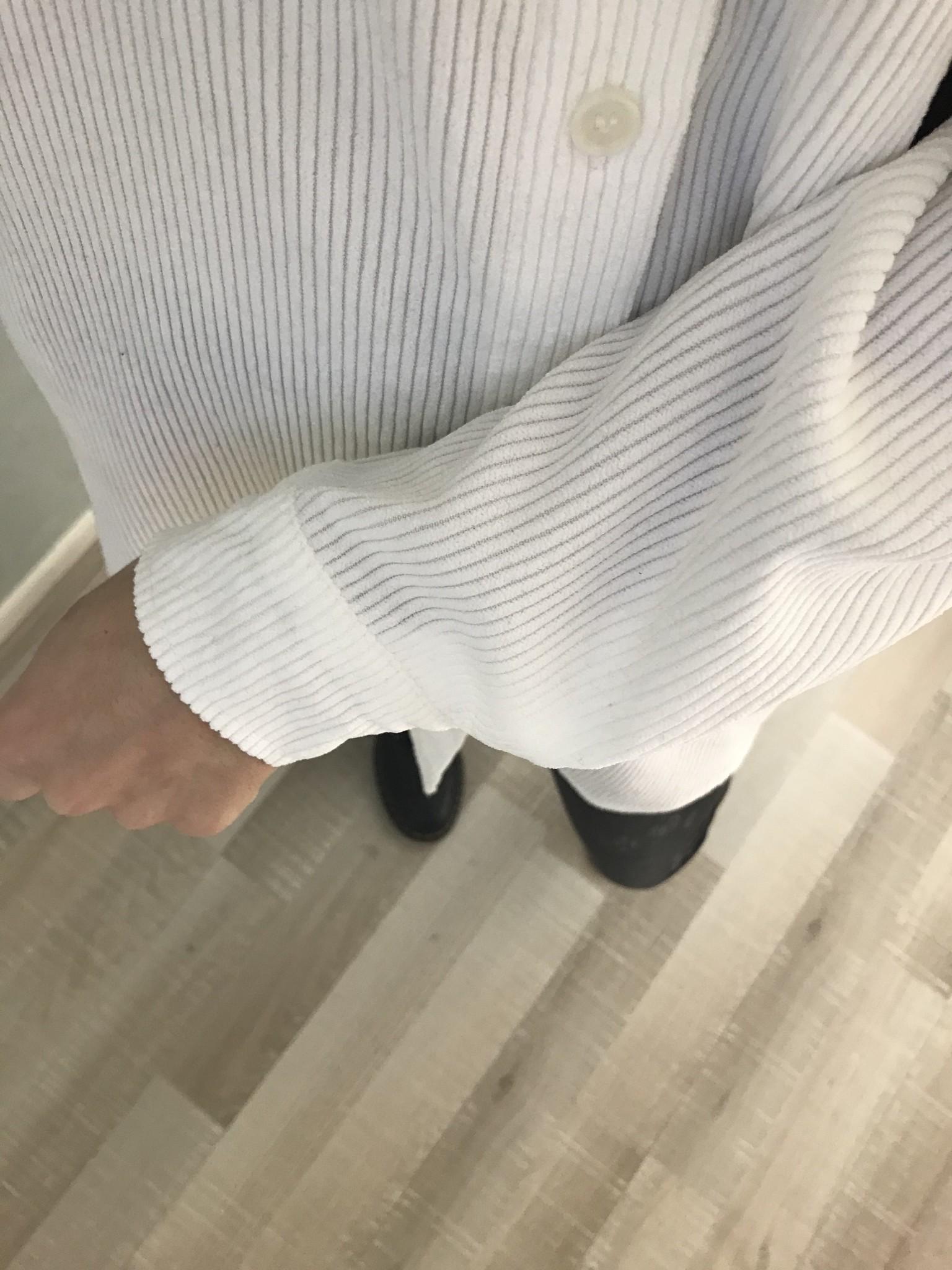 Ribbel blouse rapallo wit