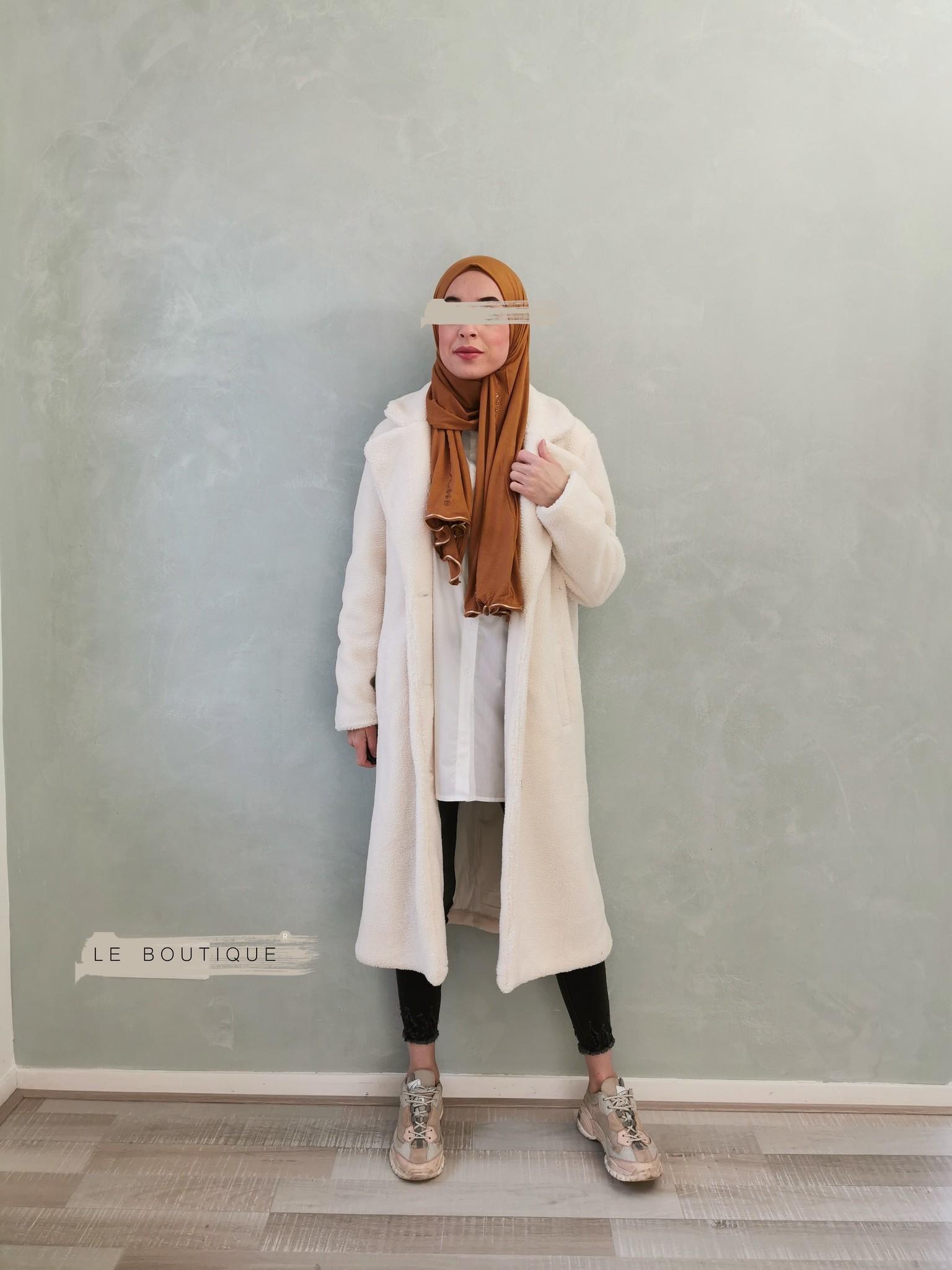 teddy coat edolo off white