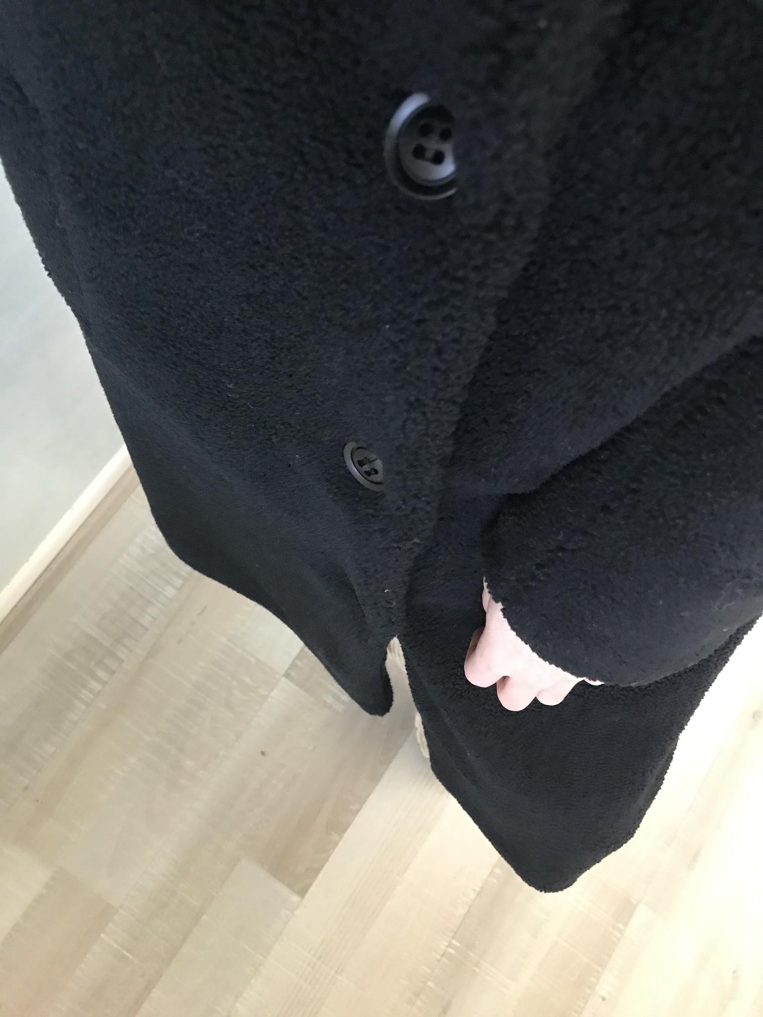 teddy coat edolo black