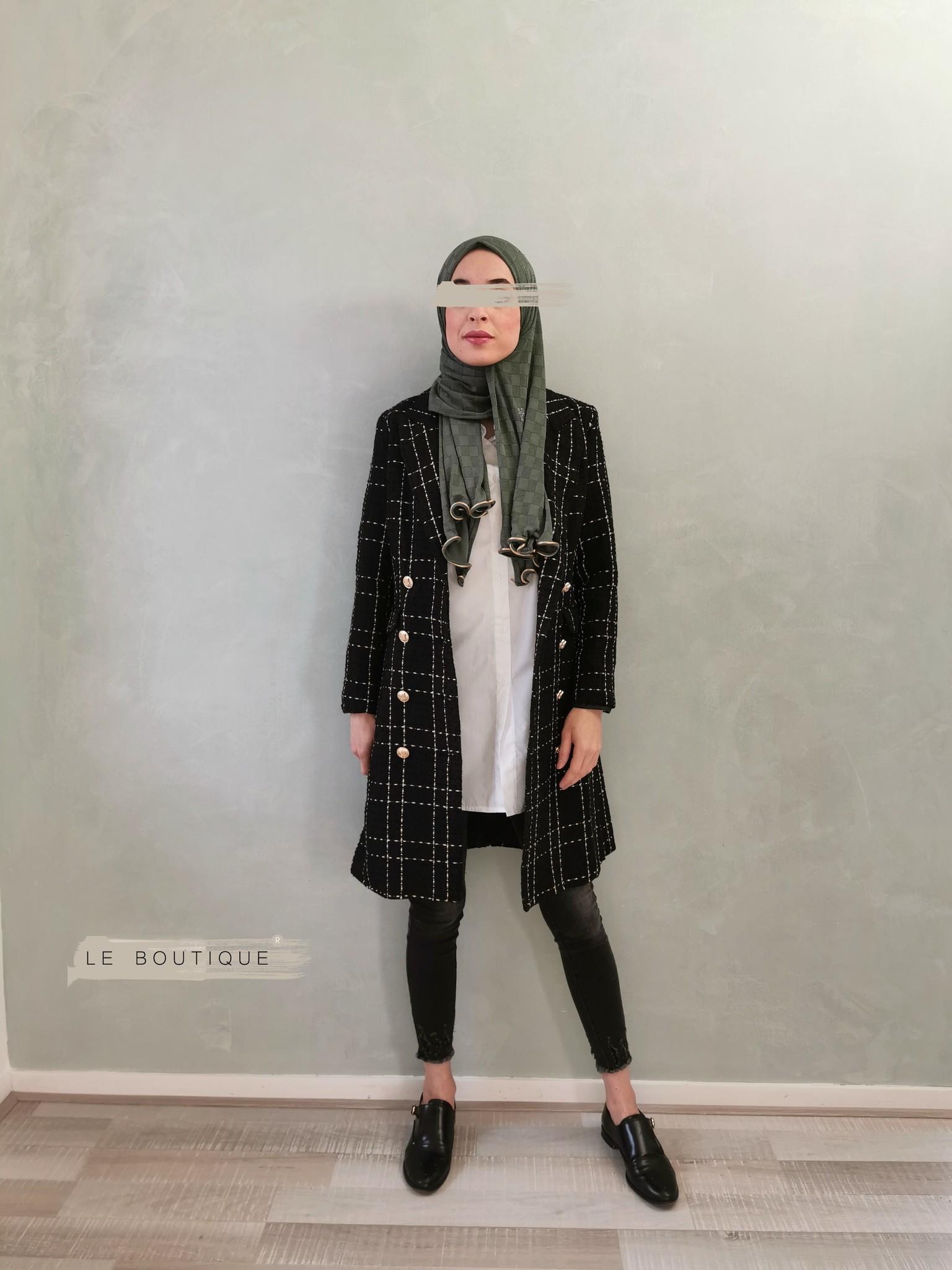 Tweed coat windsor black