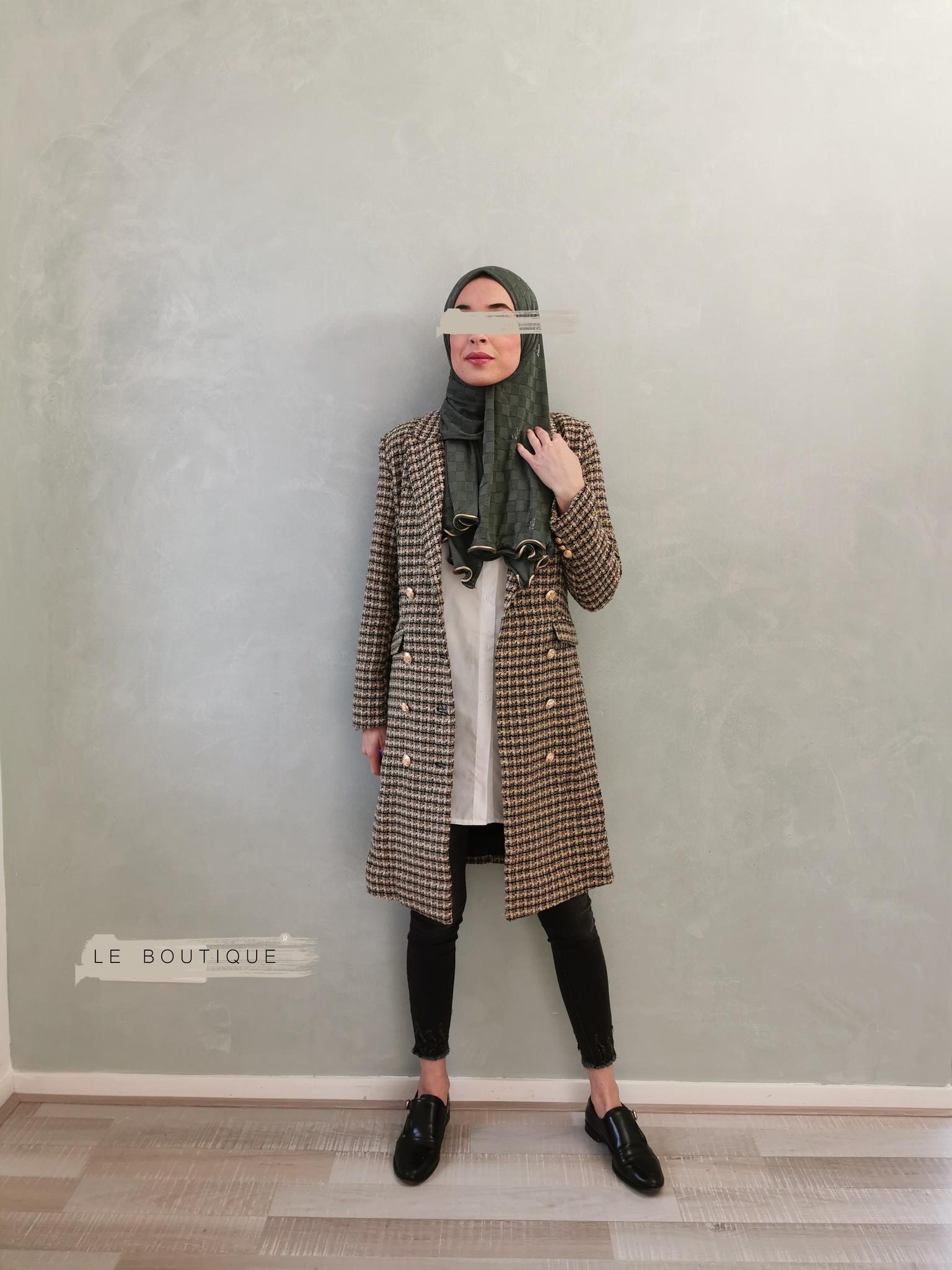 Tweed coat windsor beige