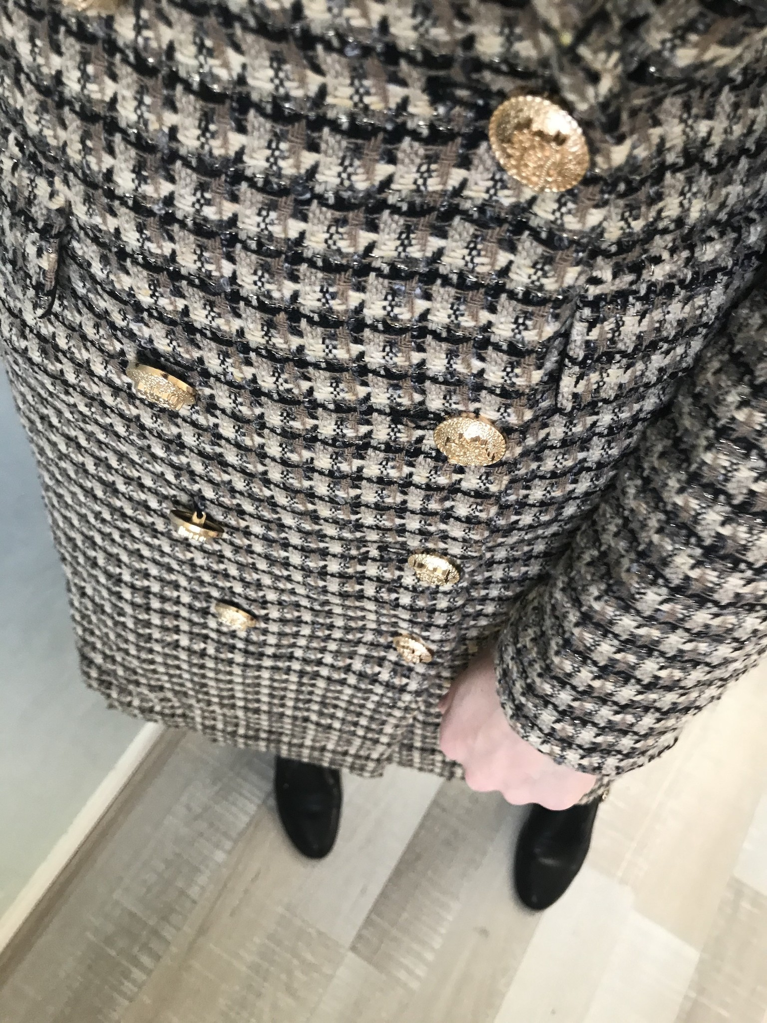 Tweed jas windsor beige