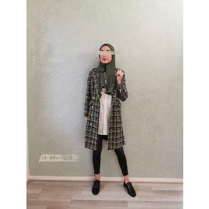 Tweed jas windsor zwart-gld
