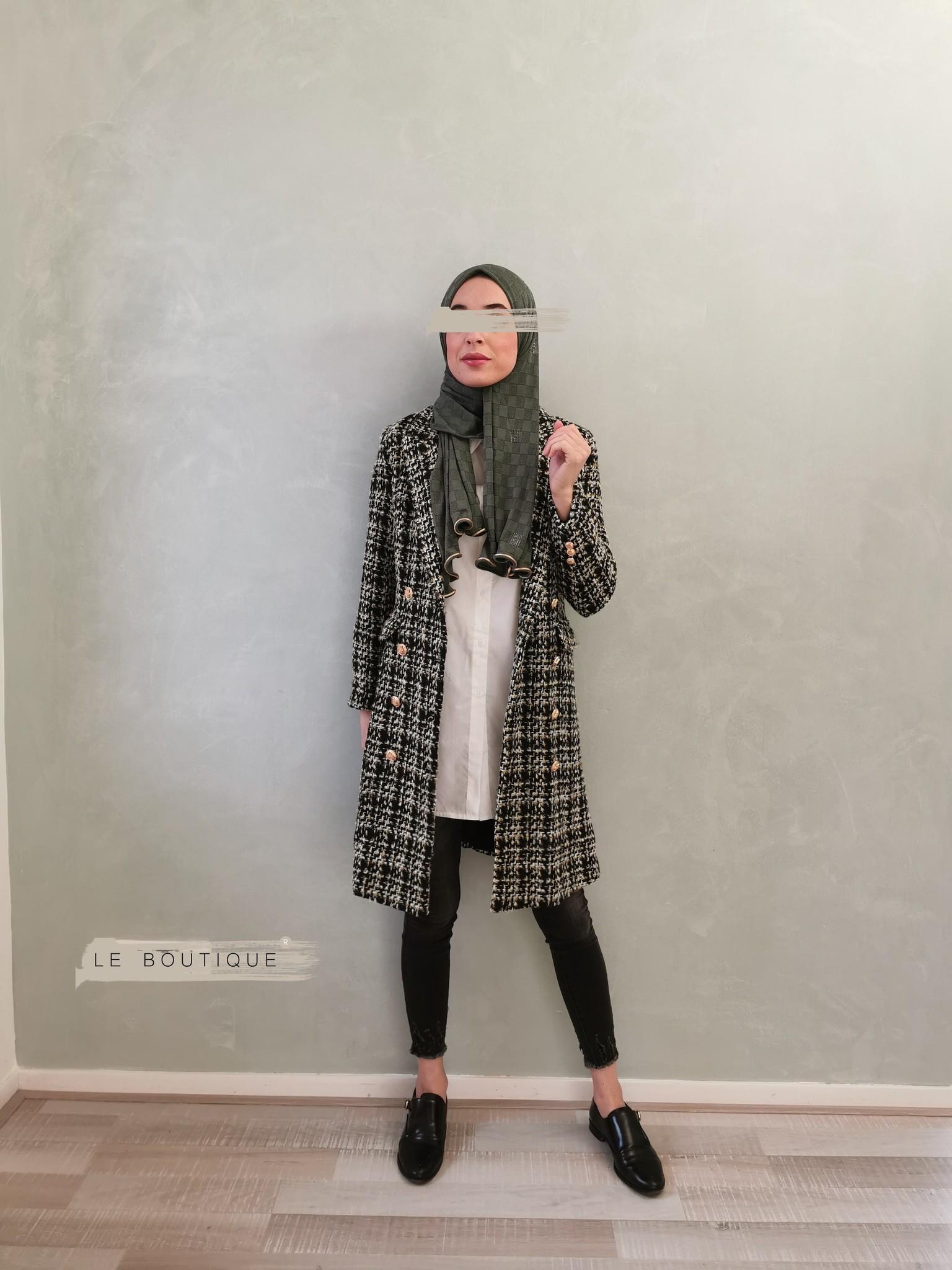 Tweed coat windsor black-gld
