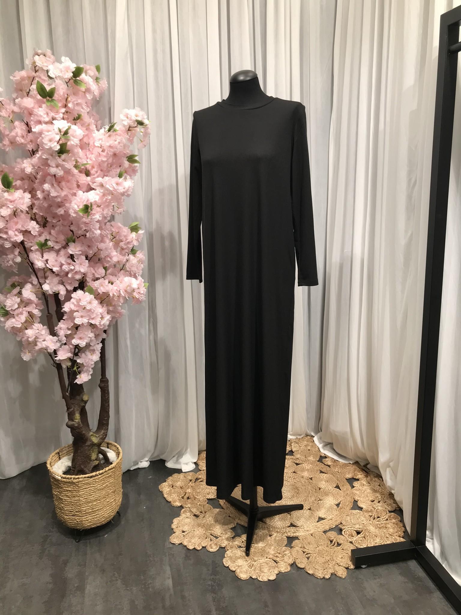 Loose fit body dress basiano zwart
