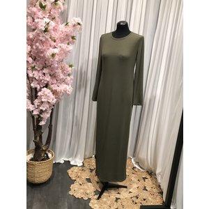 Jersey body dress slim-fit acciaroli II khaki