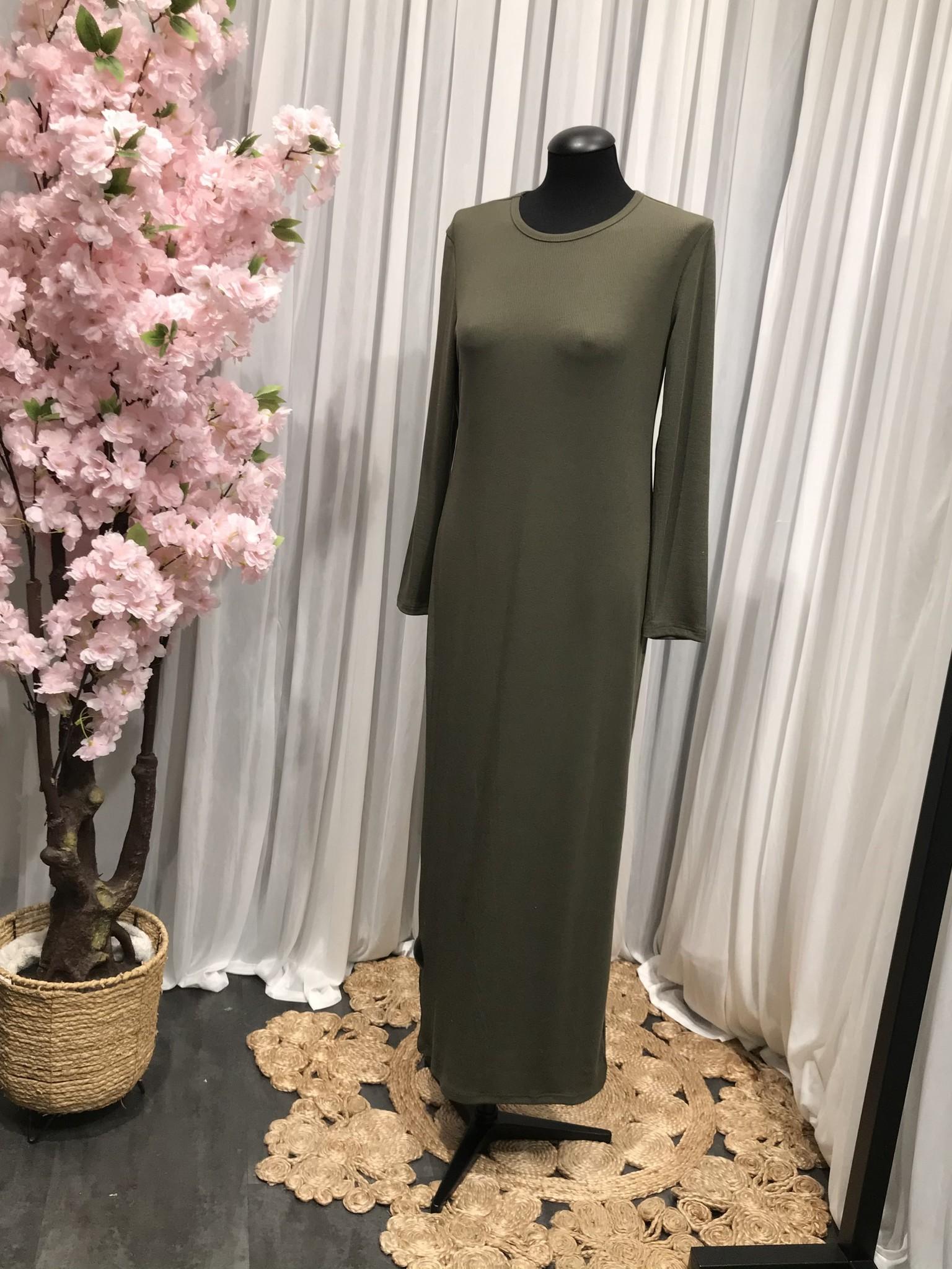 Jersey body jurk acciaroli II khaki