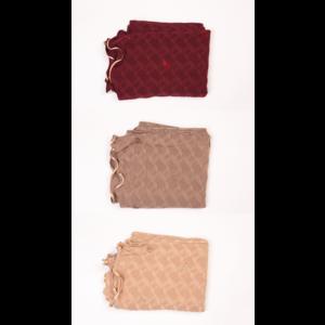 Jersey scarf diamonds