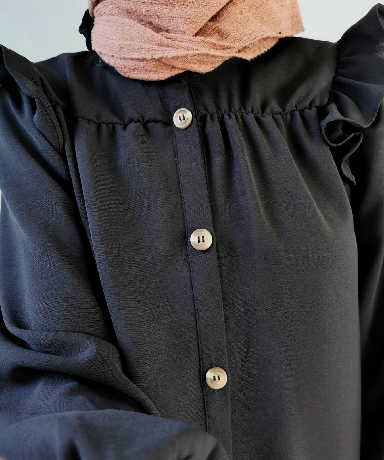korte tuniek-  zwart