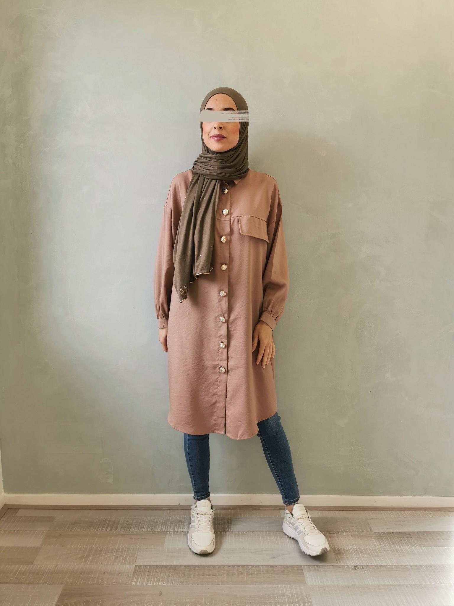 Oversized blouse giusto roze - Copy