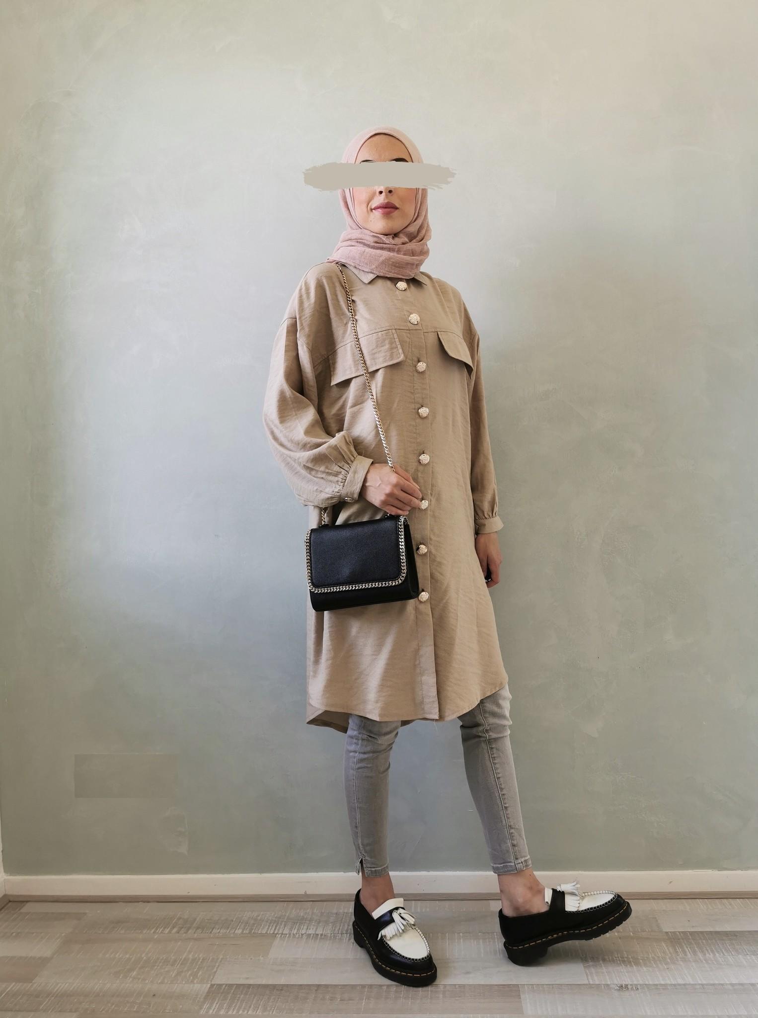 Oversized blouse giusto beige - Copy