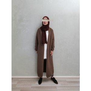 Maxi cardigan garganico brown - Copy