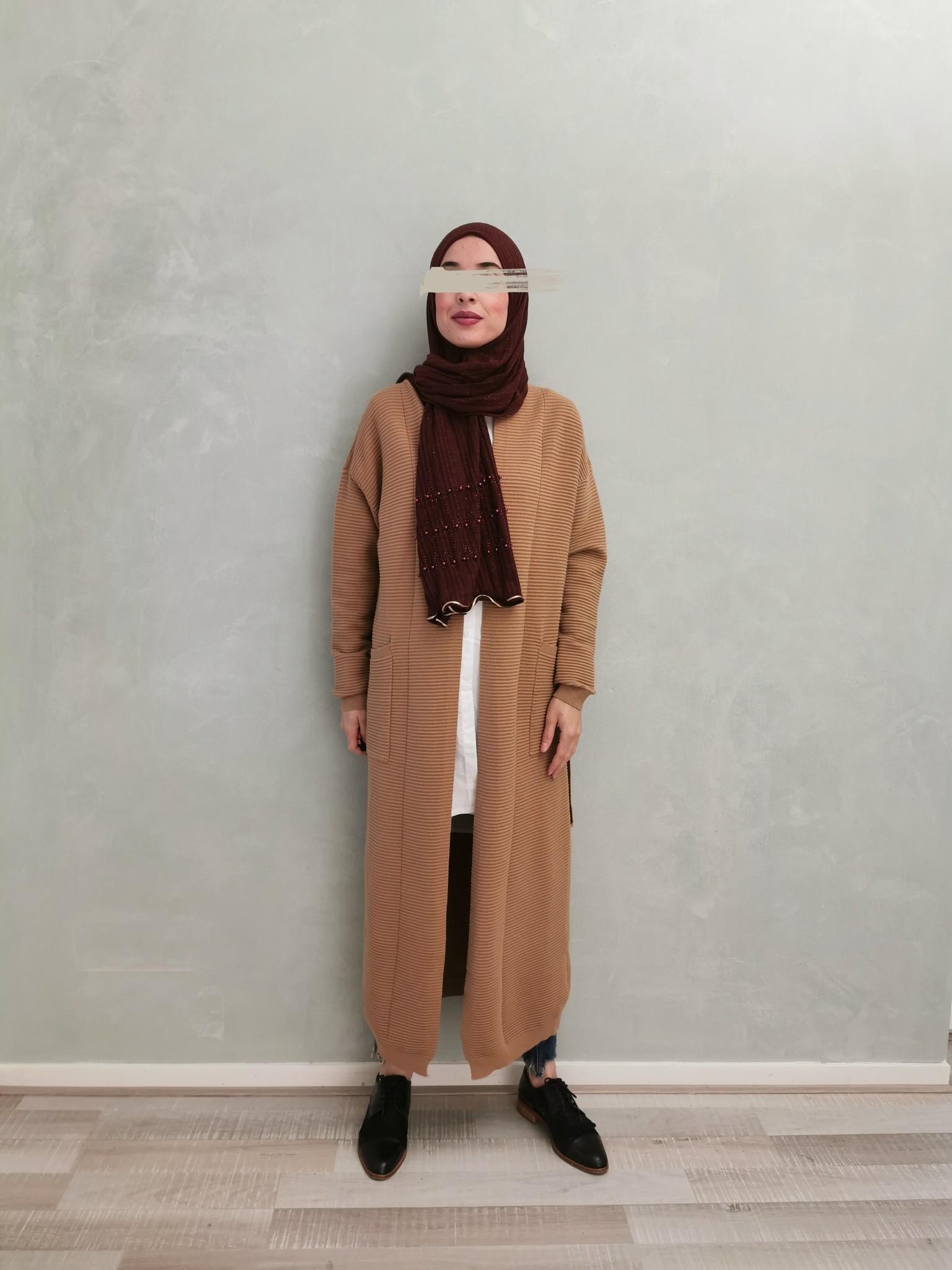 Maxi vest garganico beige - Copy