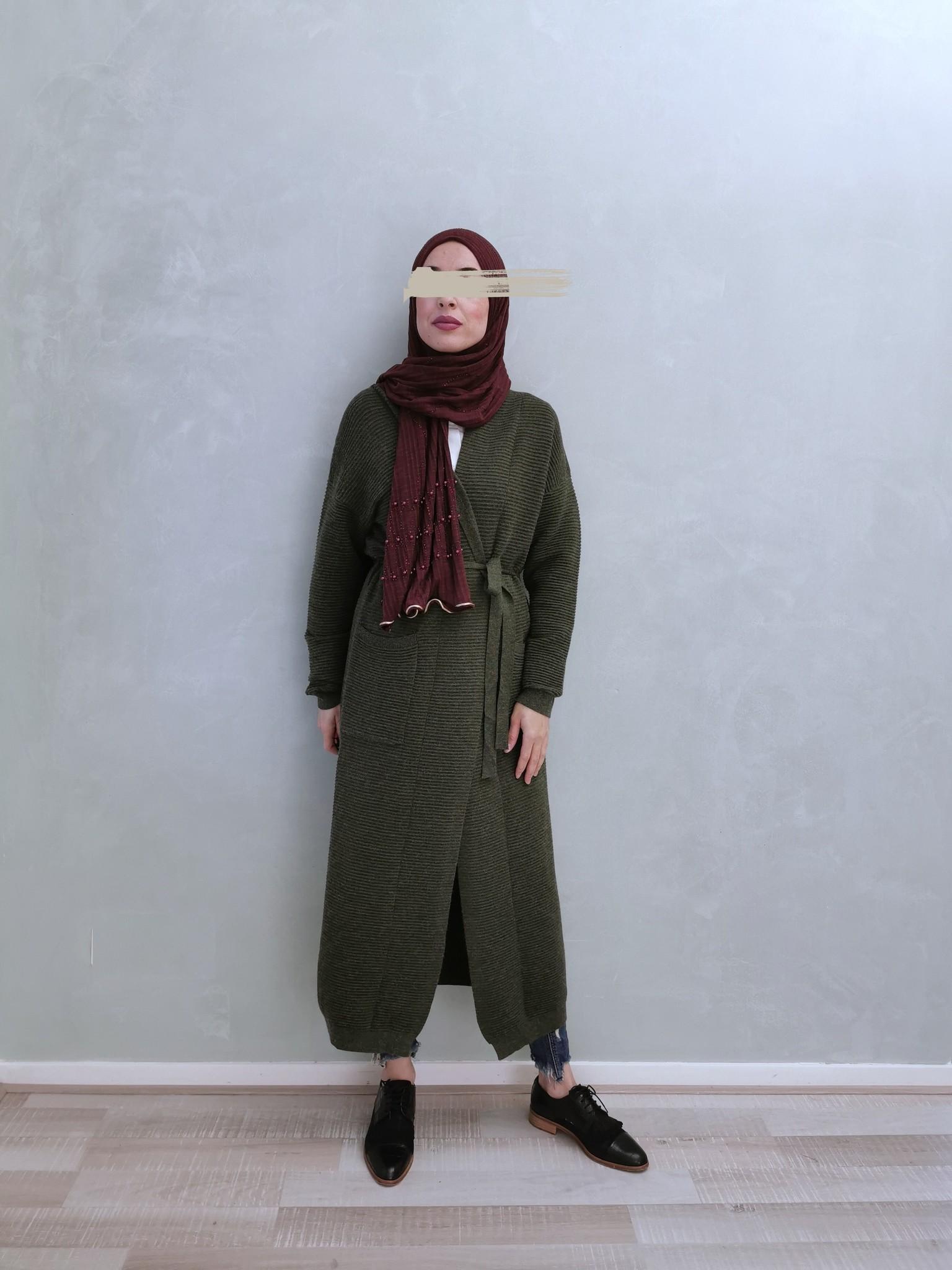 Maxi vest garganico vintage groen - Copy
