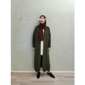 Maxi cardigan garganico vintage green - Copy