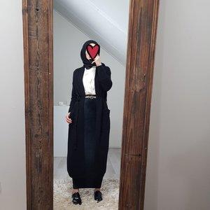 Maxi cardigan garganico black   - Copy