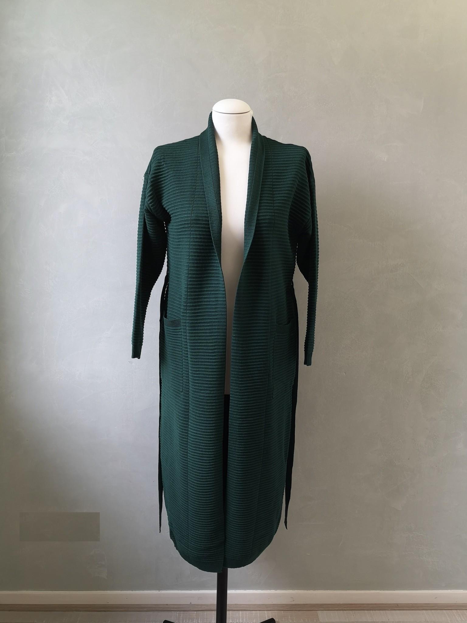 Maxi cardigan garganico clear green - Copy