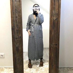 Maxi cardigan garganico grey   - Copy