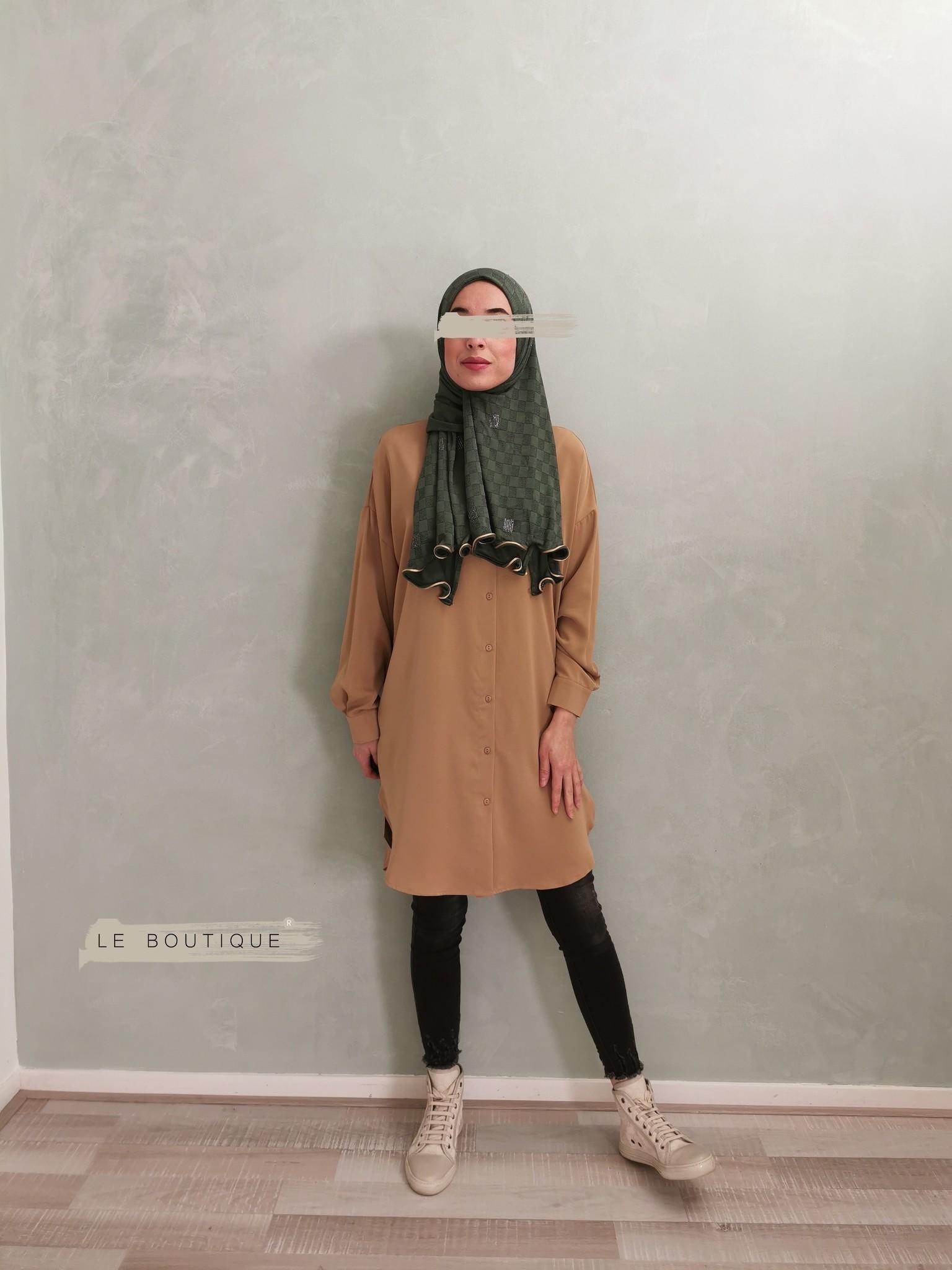 Basic blouse alassio beige (vallen ruim)