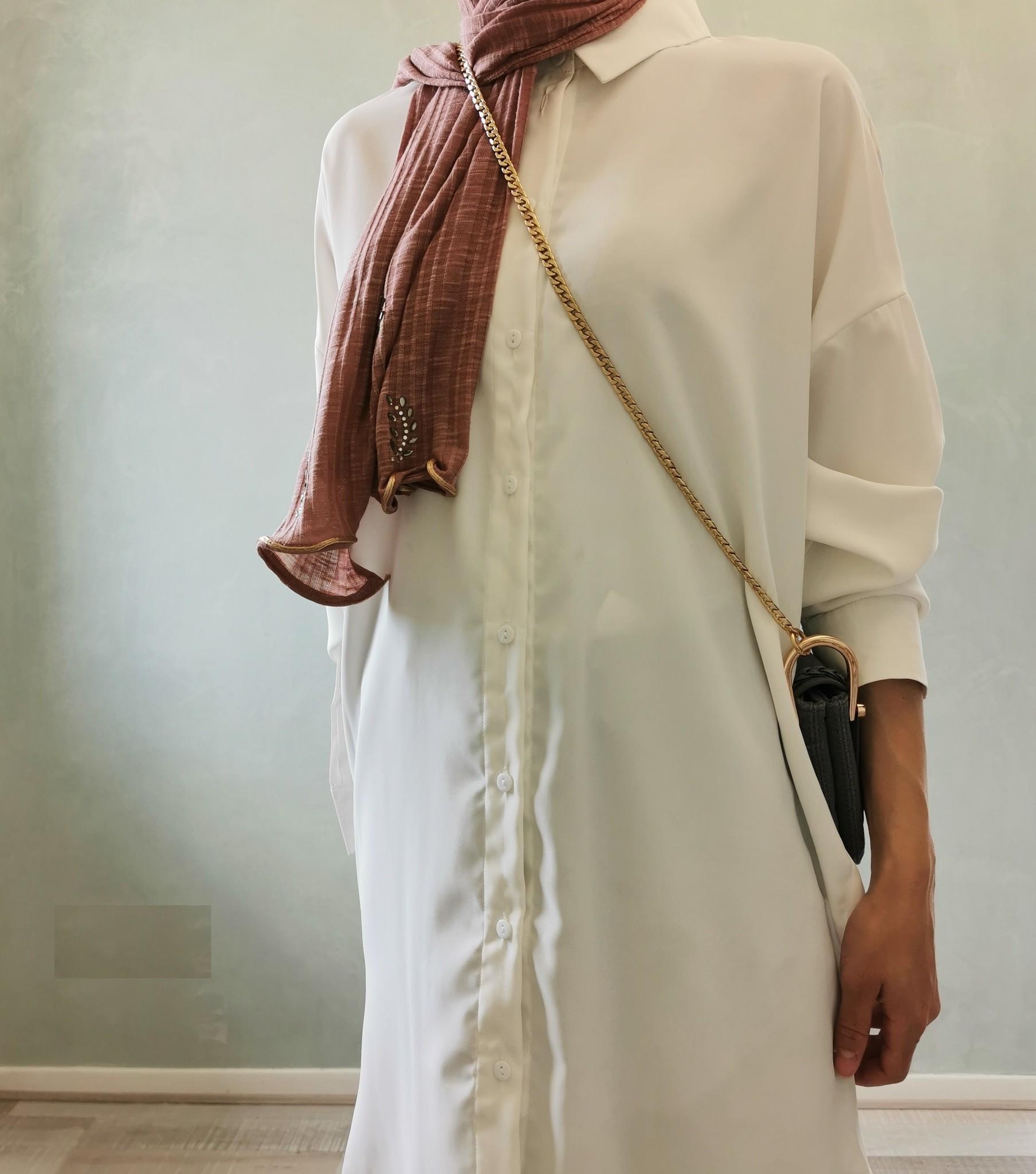 Basic blouse alassio wit (vallen ruim)
