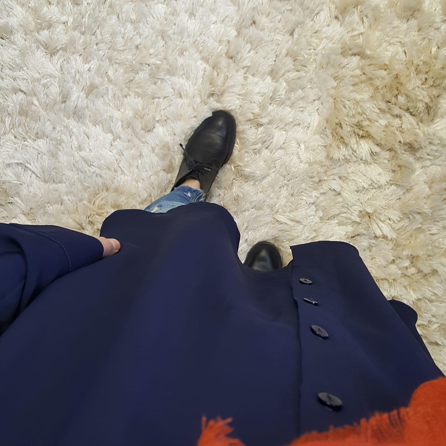 Basic blouse alassio blauw  (vallen ruim)