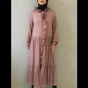 Volant dress ventosa pink - Copy