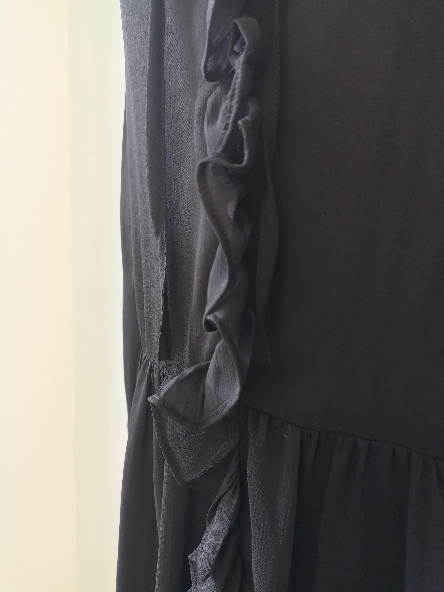 Volant dress ventosa black - Copy