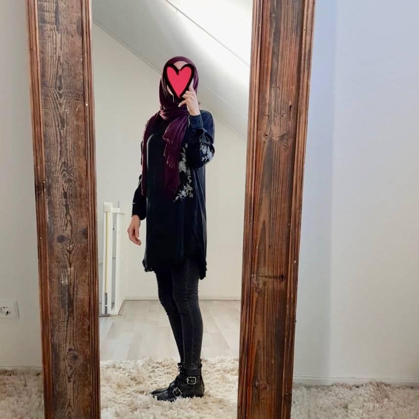 Oversized blouse trapani zwart   - Copy