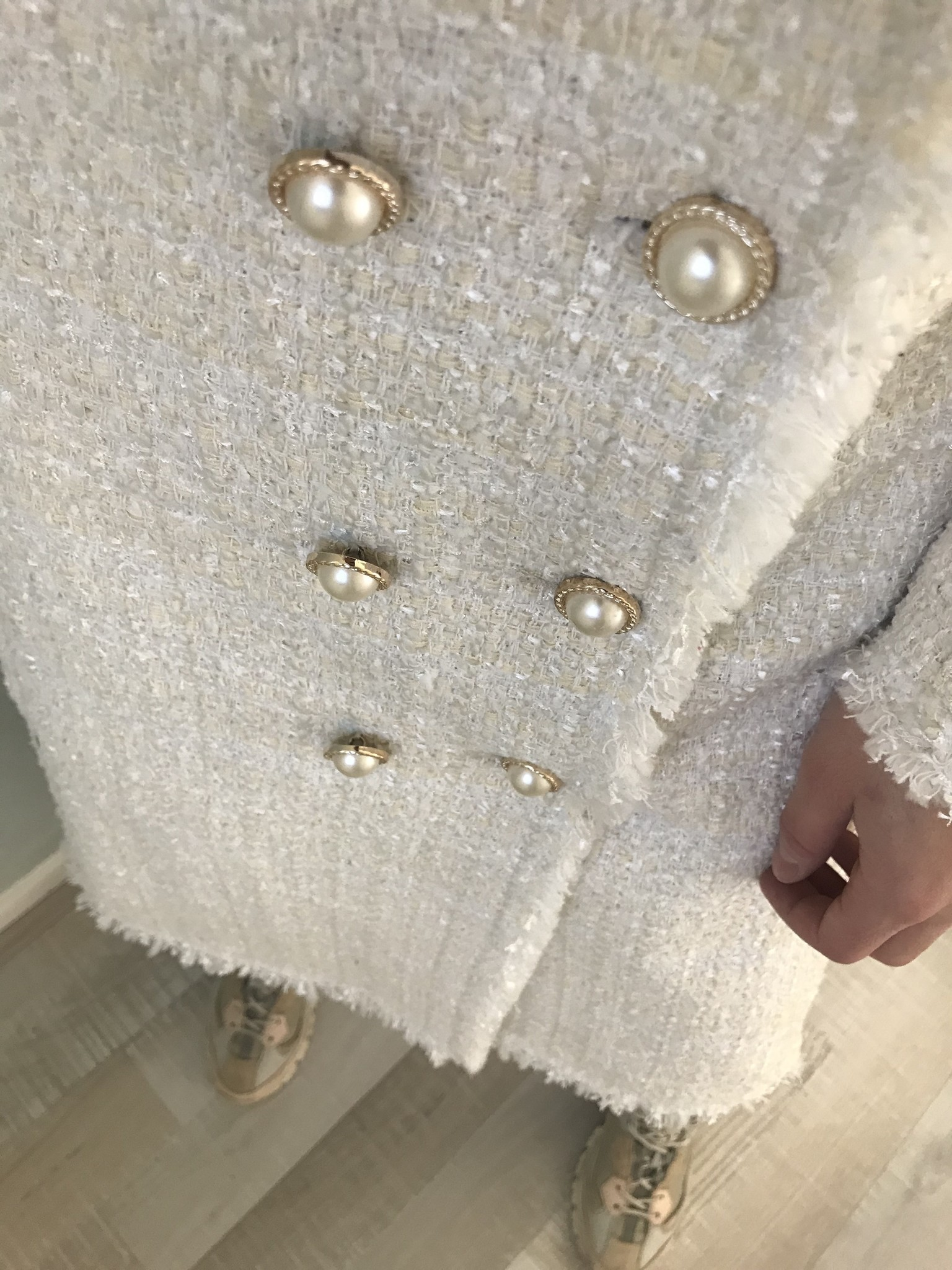 Tweed jas tipton wit - Copy
