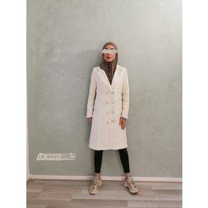 Tweed coat tipton white - Copy