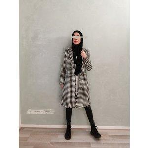 Tweed coat tipton beige - Copy