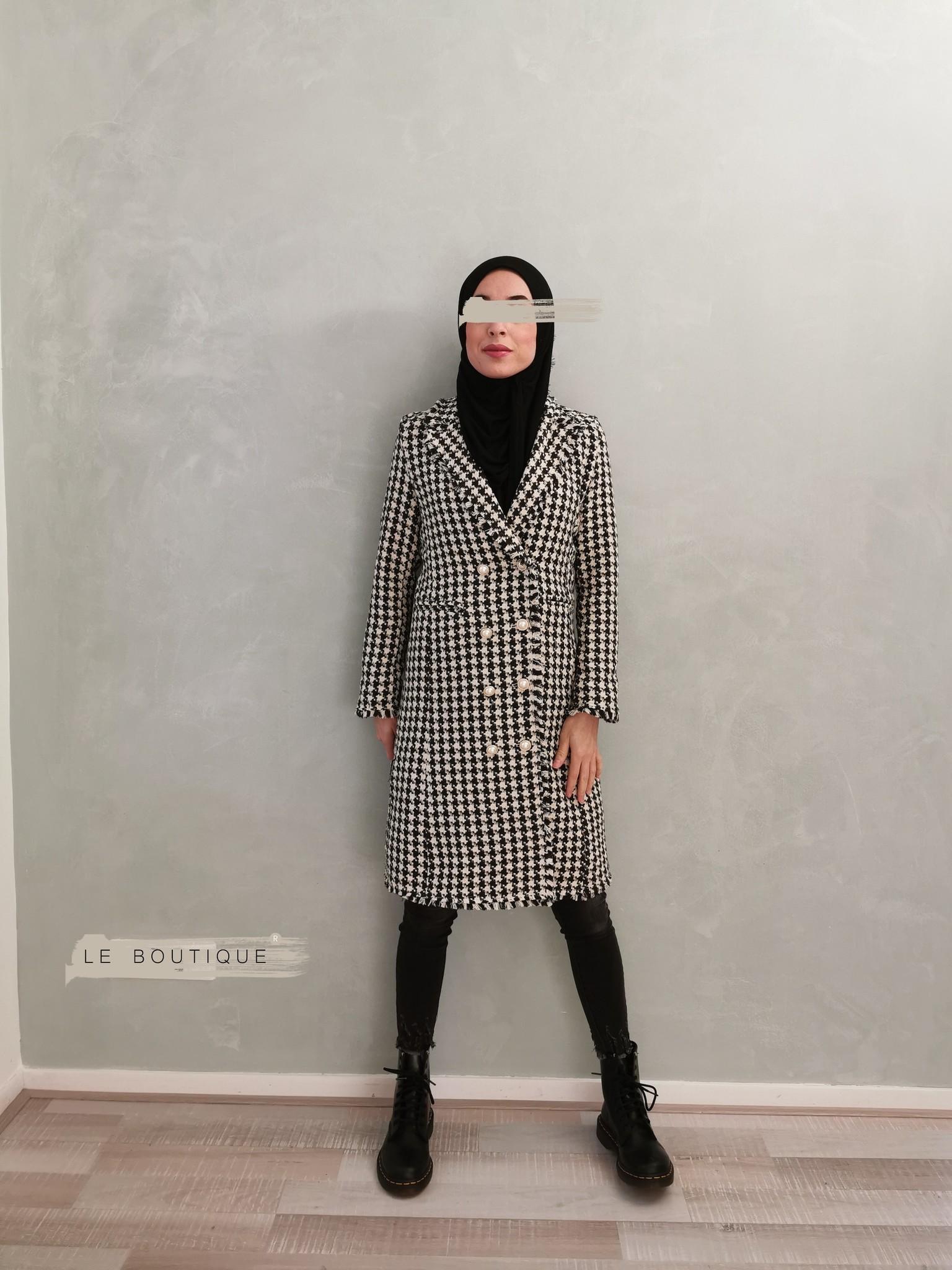 Tweed jas tipton beige - Copy