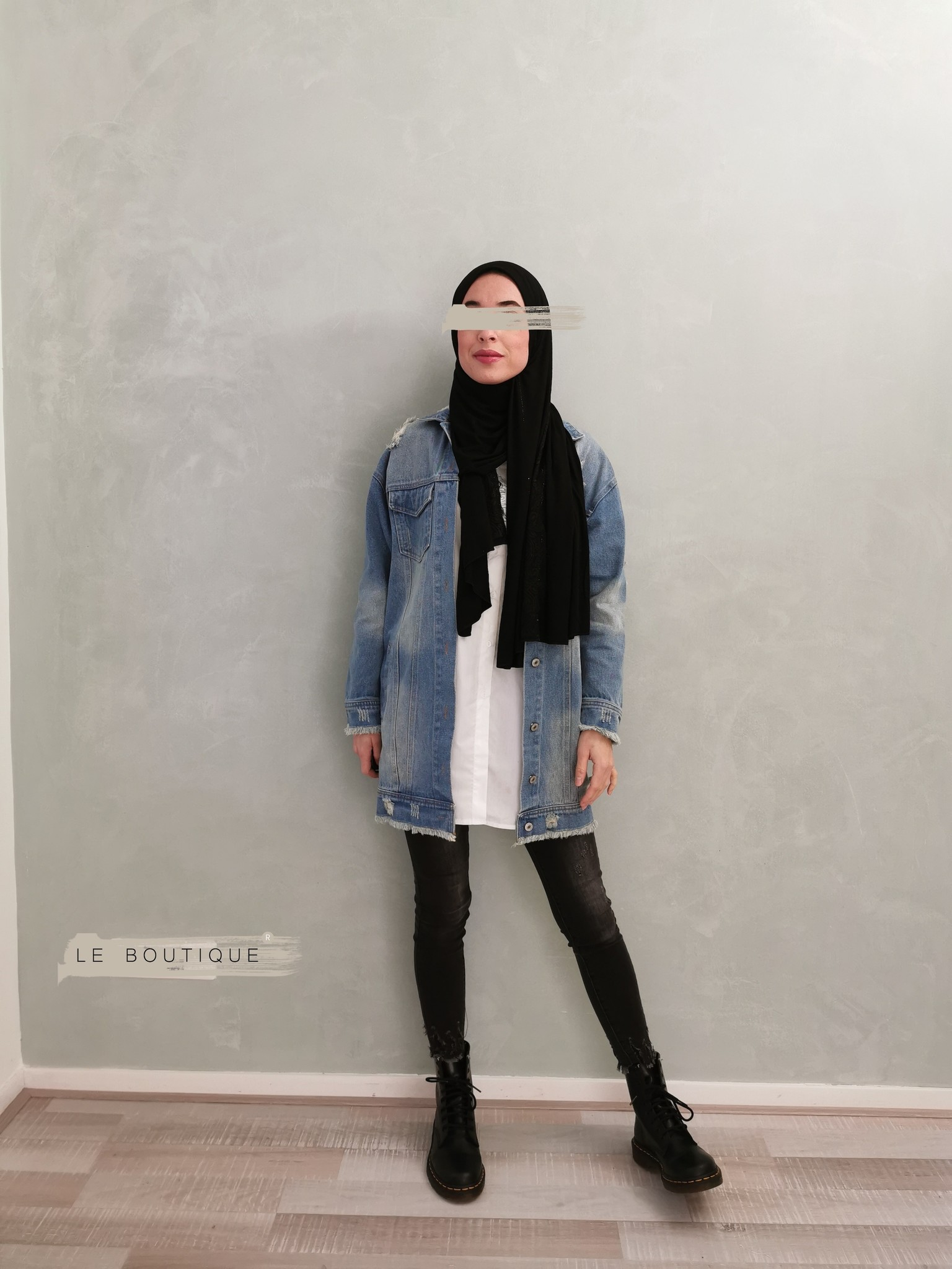 Spijker jas diano l-blauw   - Copy
