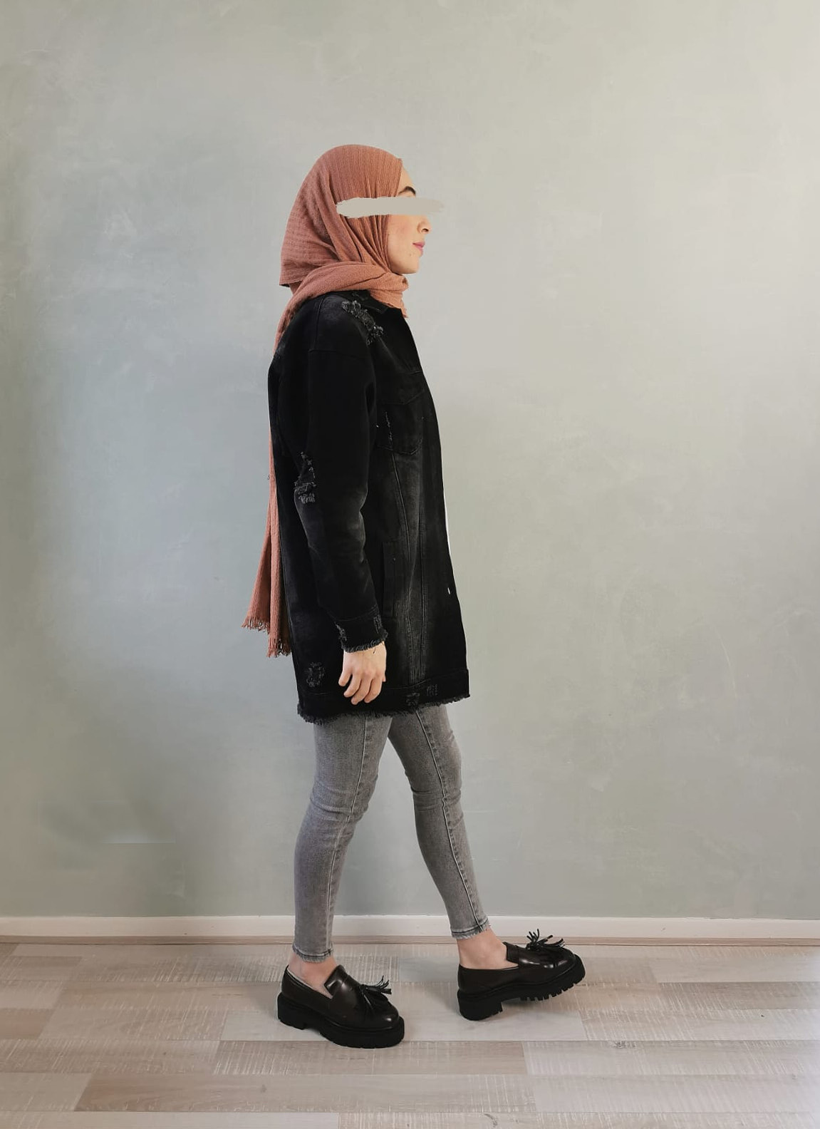 Spijker jas diano zwart