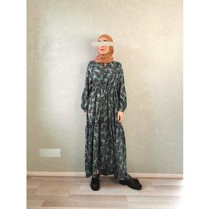 maxi jurk print green