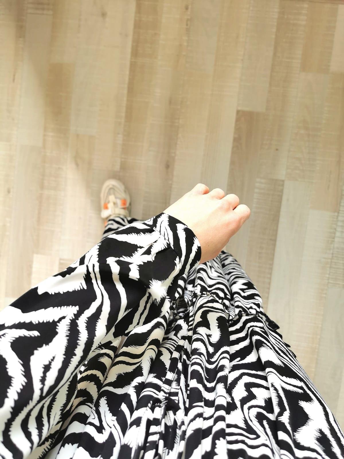 maxi jurk zebraprint