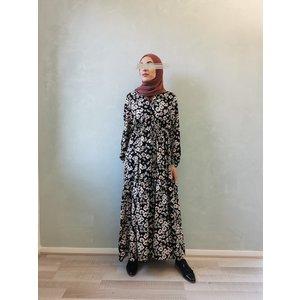 Dress godrano floral print black