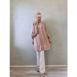 Glansblouse cave pink