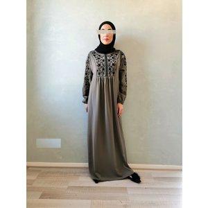 jurk caninio zwart op grijs